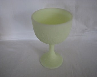 Fenton Persian Medallion Lime Green Custard Chalice