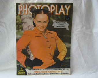 Gossip and Fashion Movie Magazine 1940 Photoplay