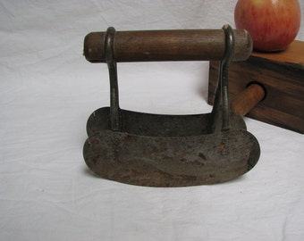 primitive kitchen chopper wood handle rocker chopper