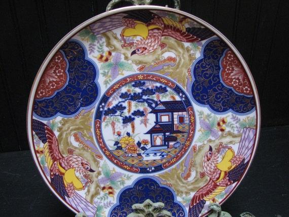 Vintage BiJutsu Imari Ware Decor Plate Gorgeous Fancy
