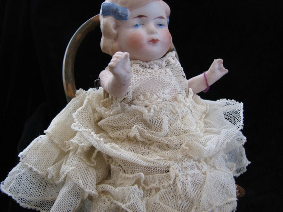 German Bisque Baby Doll With Bows