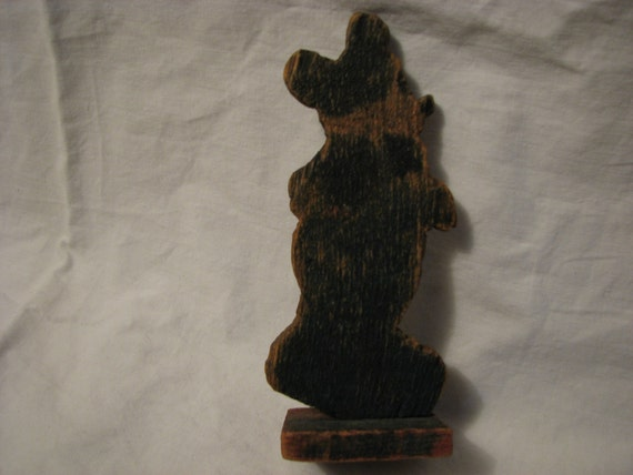 Primitive Early Mickey Mouse Stand Up Toy Folk Art Rare