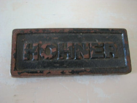 Hohner Advertising Cabinet Iron Sign Music Collectors Antique Harmonica Rare Early
