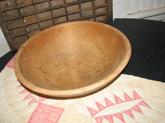 Shenandoah Community Workers Turned Beech Wood Dough bowl