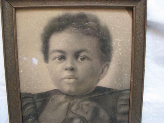 photograph of African American child son of a slave Virginia 1860's Civil War Era