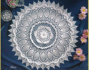 CROCHET PATTERNS for Our Favorite Doilies including Pineapple doily  designed by Delsie Rhoades, download through Etsy