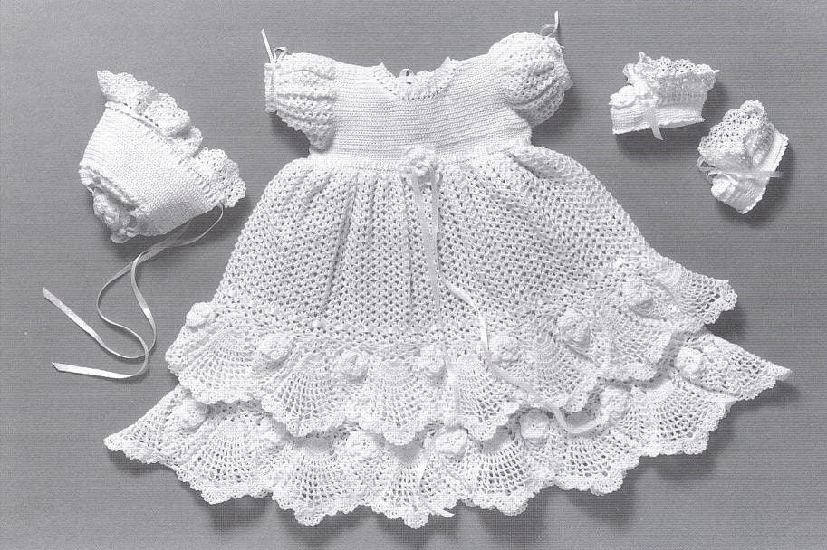 Crochet Patterns Baby Christening Dresses : Unavailable Listing on Etsy