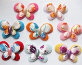40pc Butterflies With Pearls Fabric Padded Appliques ta18