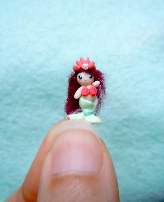 OOAK Tiny mermaid doll