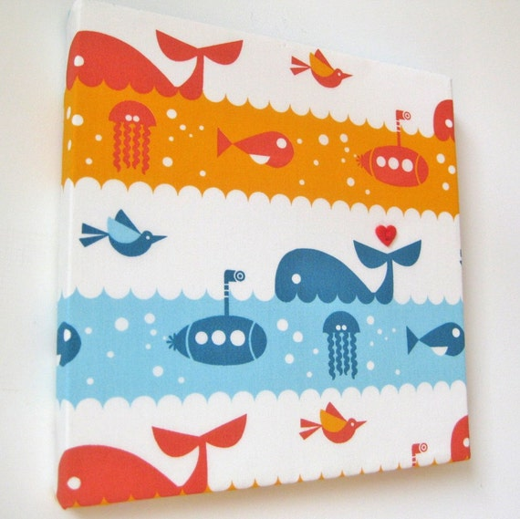 Handmade fabric wall art for baby boy 39 s nursery fabric for Boy nursery fabric