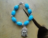 Howlite bracelate, with buddha