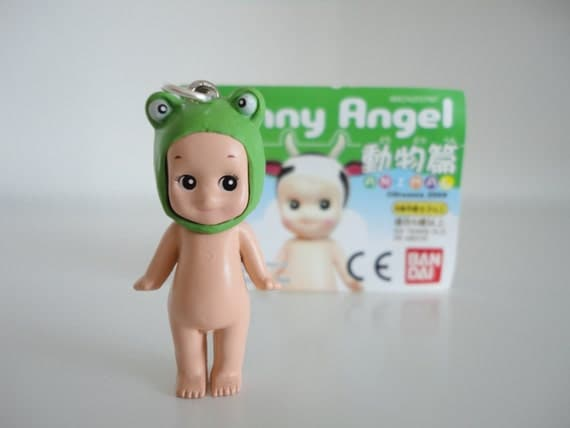 Sonny angel frog pandant, with a ball chain necklace.