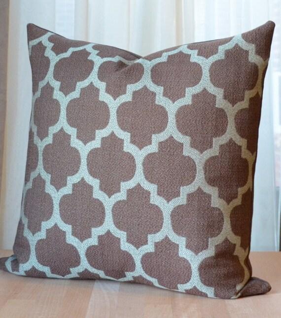 SALE Brown Pillow Moroccan Pillow Modern Throw Pillow