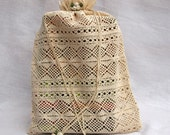 Lingerie bag, Travel bag, Multi-Purpose Cream Lace Bag With Cream Ornaments