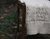 HAVA - a hand-knit BABY BLANKET for spring outings and more..
