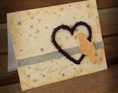 Bird Silhouette - Handmade Valentine Notecard