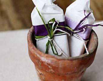 20 Wrapped Soap Favors - Garden Wedding Favors - Bridal/ Wedding Shower Favors - Cold Process Soap - Vegan Soap