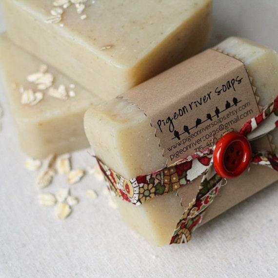 Oatmeal Dreamsicle Soap - Peru Balsam, Sweet Orange, & Oatmeal Soap - Handmade Vegan Soap - Cold Process Soap - Soap Bar