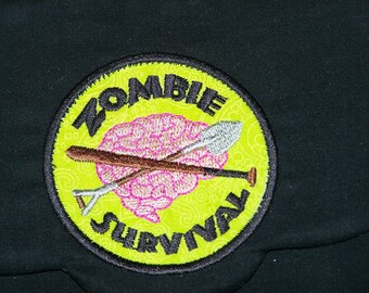 Zombie Survival Embroidered Patch E Reader Cover
