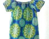 Sweet Periwinkle & Lime  Dress