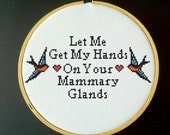 The Smiths - Let Me Get My Hands on Your Mammary Glands Cross Stitch PDF Pattern