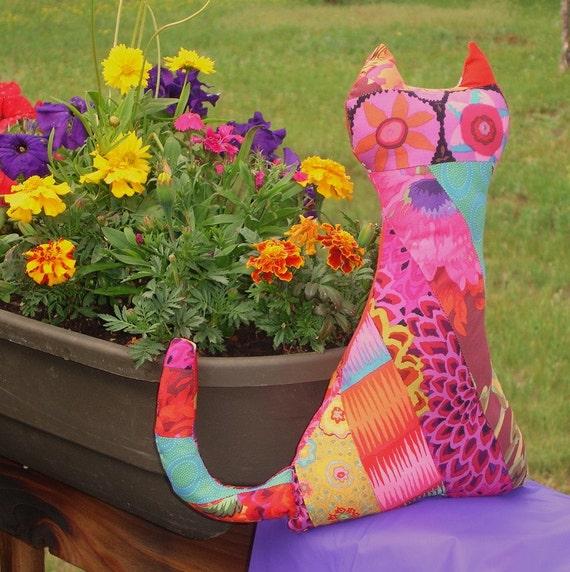Kitty Cat Cuddler -- Bright Kaffe Fassett Fabrics