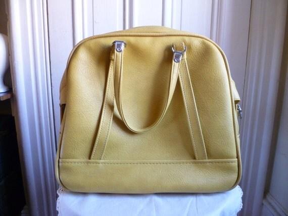 Vintage 70s Tourister Mustard Tote Bag