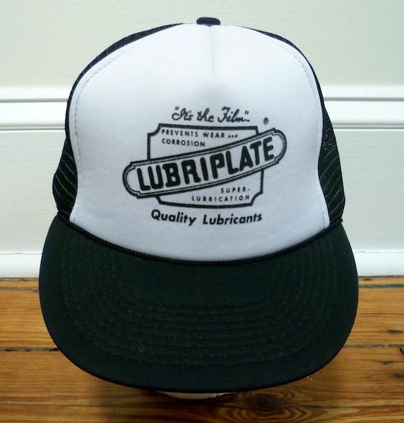 Vintage 80s Mesh Trucker Hat- Lubriplate Lubricants