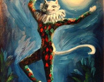 ACEO - Cat Dancing