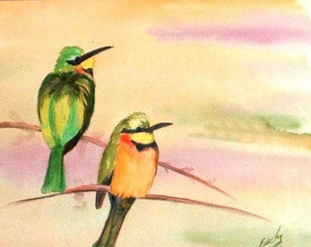 ACEO - Bee Eaters