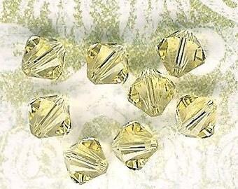 6mm Jonquil Austrian Swarovski Crystals-8 piece pack