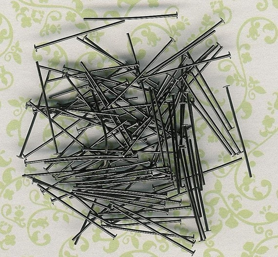 Low Close Out Price-Gunmetal 1 inch Head Pins- 200 piece pack