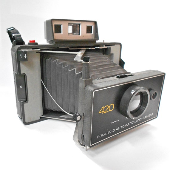 Vintage Polaroid 420 Automatic Land Camera with Original Literature Early 1970s