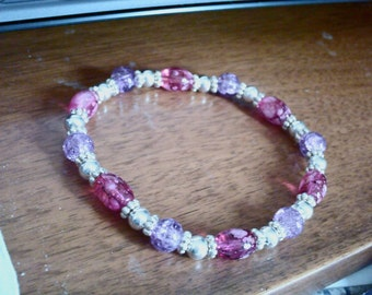 Hot Pink and Lilac Bracelet