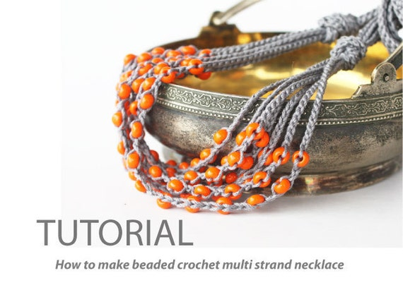 Crochet Jewelry Patterns For Beginners : ... crochet multi strand necklace DIY Easy crochet pattern for beginners