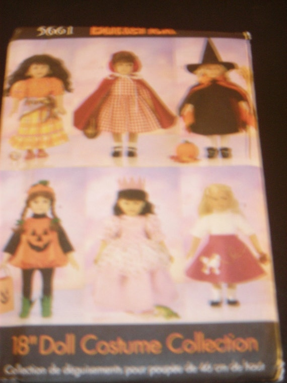 """Butterick Pattern 5661 for 18"""" doll clothes"""