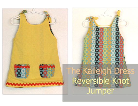 The Kaileigh-Reversible Knot Dress Pattern- Instant Download