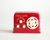 SALE - 25% OFF - Radio Bank by Reliable - Red & Rare - Made in Canada