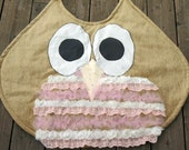 Roses and Lace Owl Play Mat- Lots of Texture - Whoo Wants to Play