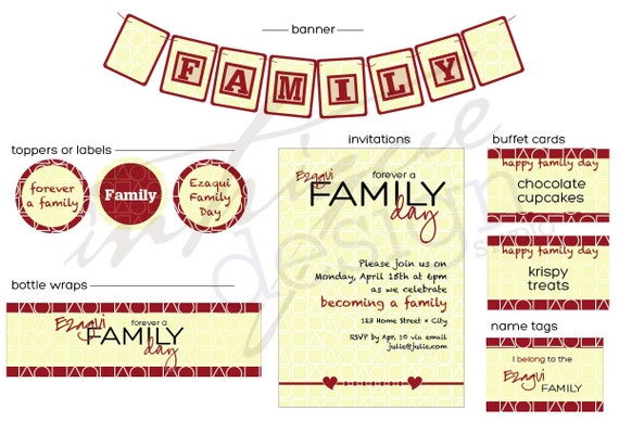Gotcha Day / Family Day Party Printables