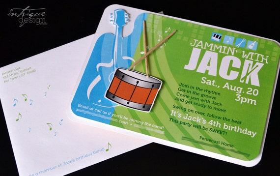 Jammin with (name) Party Printables - Complete Print It Yourself Package