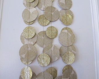 Gold Paper and Glitter Garland: Wedding or Christmas Garland