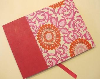 Pink Guest Book Journal Coptic Hardbound