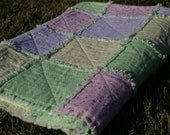 INVENTORY SALE - Spring Pastel Colors, Soft,  Spring, Easter Flannel Rag Quilt