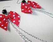Cute as a Bow EarLace in Red Polka Dot by Eclectic Funk by Kaila J