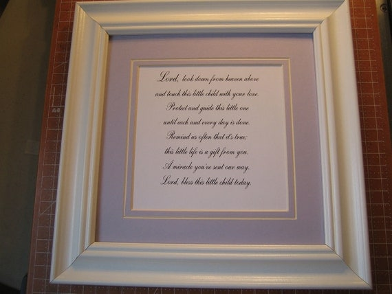 Framed Prayer For Child S Room 9x9 Lord Look By