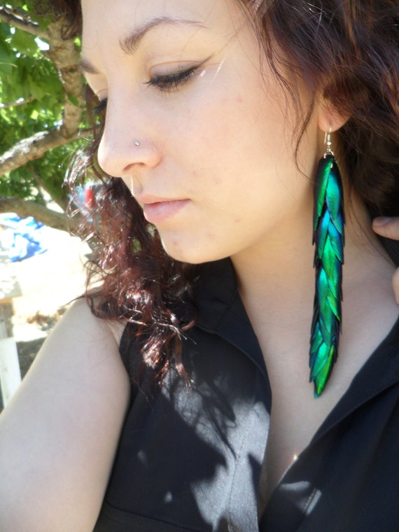 The Wild Woman -Extra Extra Long Mermaid Tail - Egyptian Beetle Wings