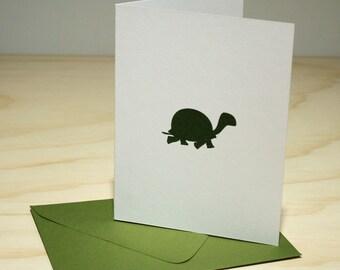 Turtle Letterpress Card