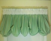 I Want Candy- Dots bubble valance- Green apple
