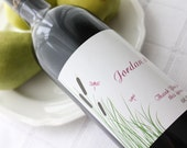 Cattails and Dragonflies - Custom Wine Bottle Labels